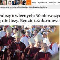 Episkopat walczy o wiernych: 30 pierwszych grzechów w miesiącu się nie liczy